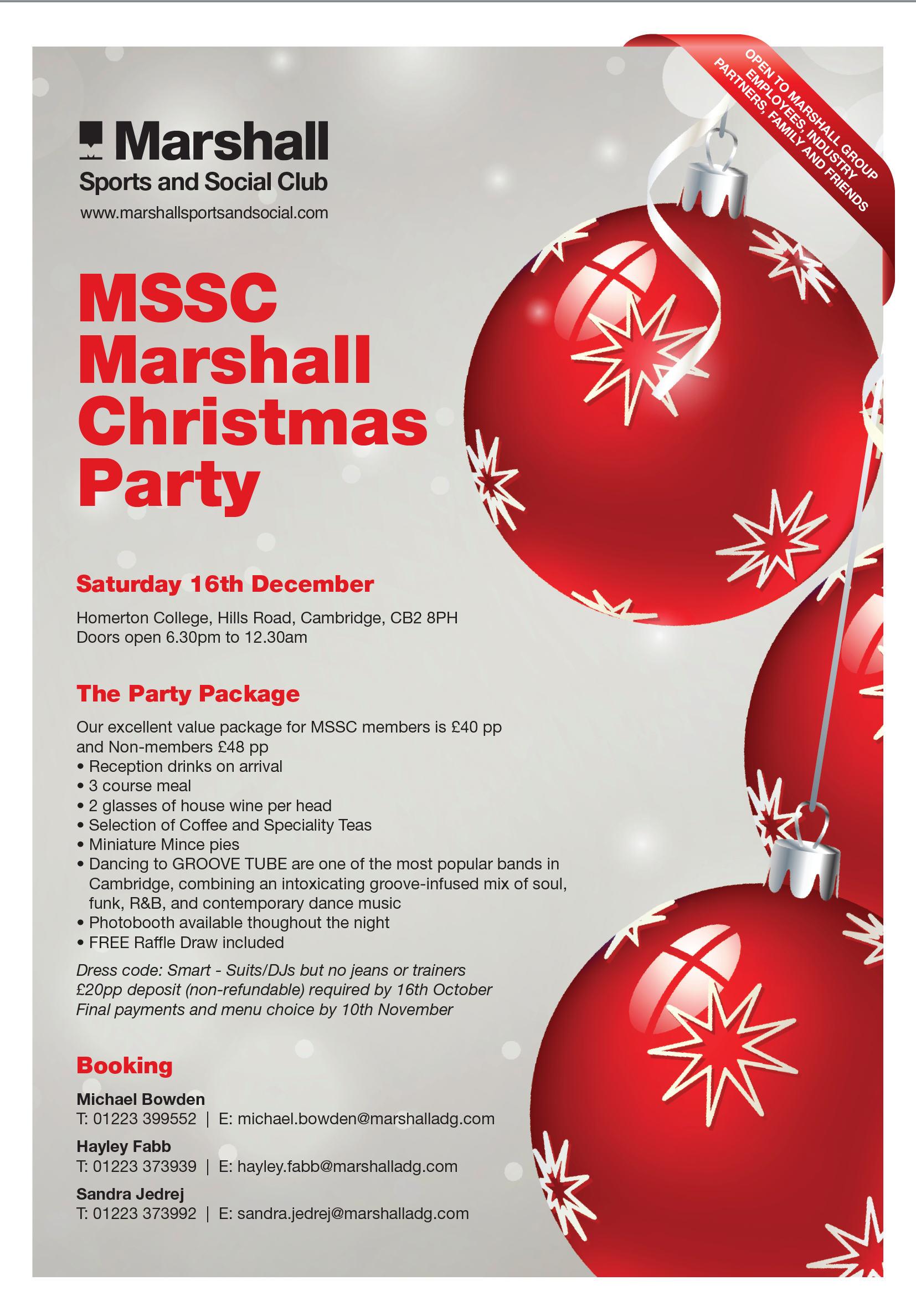 MSSC Christmas Party - Marshall Sports and Social Club